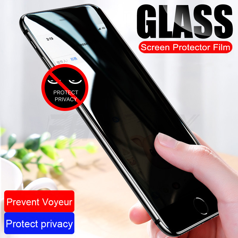 Anti Spy Protective Glass For iPhone 7 6 6S 8 Plus 5 5S SE Tempered Screen Protector Privacy For iPhone X XR XS Max Glass FilmAnti Spy Protective Glass For iPhone 7 6 6S 8 Plus 5 5S SE Tempered Screen Protector Privacy For iPhone X XR XS Max Glass Film