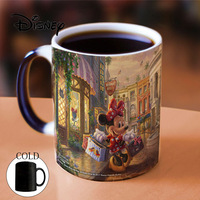 Disney Color changing Mug Minnie Mickey Mouse Women Man Ceramic Cup Kids Boy Girl Office Coffee Milk Cups Best Gift For Friends