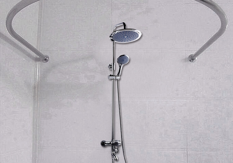 304 Stainless Steel Round U Shaped Shower Curtain Rod