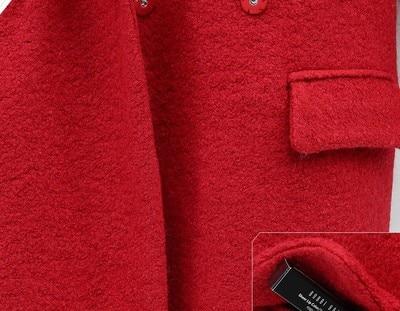 Veste Femmes Épais Unique Bouton D'hiver Chaud De Mince Tailleur Col Outwear 2018 Laine Femme Manteaux Manteau Long qwYpSx