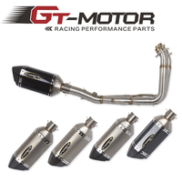 GT Motor Motorcycle Modified Stainless Steel carbon Exhaust Muffler with Full System Connecting pipe For YAMAHA YZF R6 R6 06 17