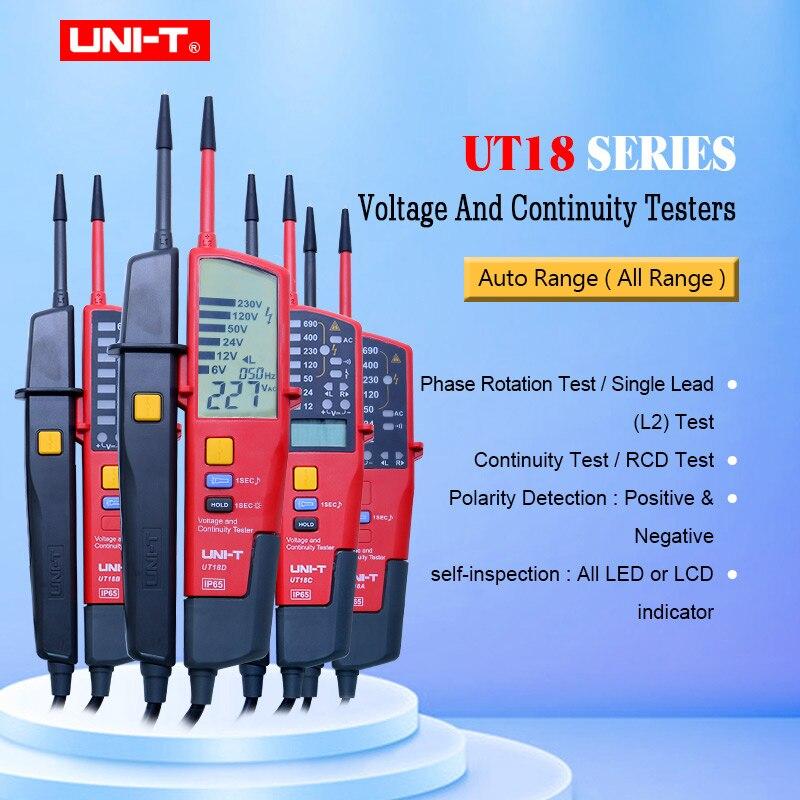 UNI-T UT18A UT18B UT18C UT18D gamme automatique voltmètre voltmètre numérique testeur de tension stylo avec Indication de LED
