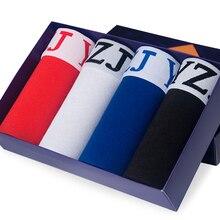DEWVKV 4pcs/lot Cotton Boxer Shorts Men Boxershorts Mens Underwear Soft Boxers Black Breathable Male Pants Sets 1008