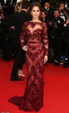 free shipping 2013 vestidos formales Naomi Watts Oscar Red long sexy Carpet Gowns Metal Silver Best Dressed Celebrity Dresses