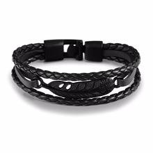 Endless August Hot sale Handmade Lucky Leaf Rope Leather Bracelets For Men Women Trendy Women Bracelet Charm Friendship Gifts