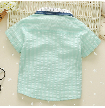 1-4y infants shirts thin children fashion 100% cotton turn-down collar with bow baby boys shirt kids top tees vetements garcons  3