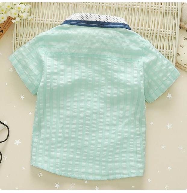 1-4y infants shirts thin children fashion 100% cotton turn-down collar with bow baby boys shirt kids top tees vetements garcons