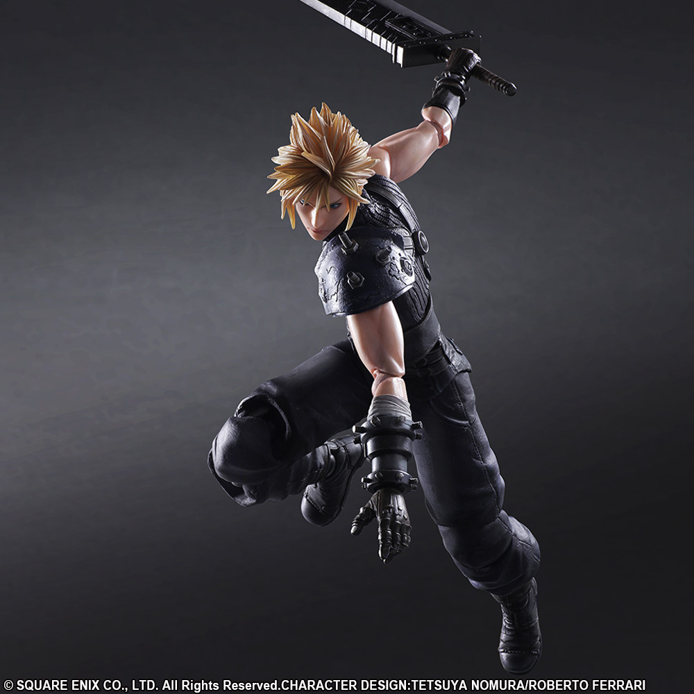 QICSYXJ High Quality Birthday Gift Supply Second Edition PA Cloud Strife Action Figure 26cm FF Cloud Model cambridge essential english dictionary second edition