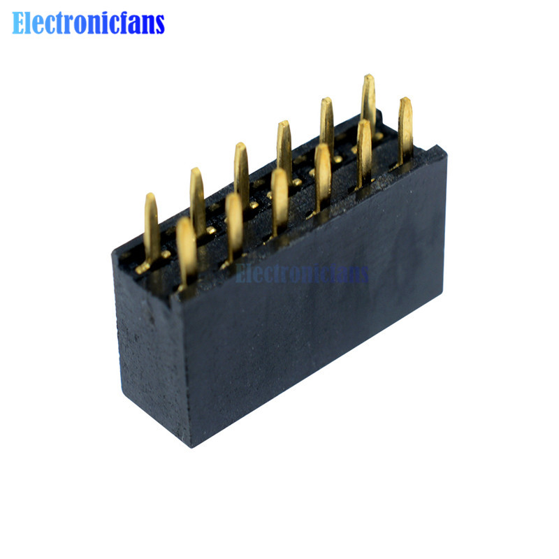 10pcs 2x6 Pin 12p 2.54mm Double Row Female Straight Header Pitch Socket Strip Special Summer Sale Integrated Circuits