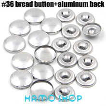 50sets/lot #36 Aluminum Bread Shape Round Fabric Covered Cloth Button Cover Metal Jewelry Accessories Free Shipping
