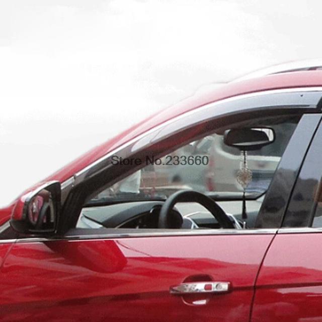Para Dodge Journey Fiat Freemont 7 asiento JC 2012 2013 2014 2015 ABS ventana Deflector de viento lluvia parasol guardia 4 unids