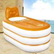Household French-Style Inflatable Bathtub Adult Folding Plastic Bath Tub Bath Barrel Romanticism Beautiful Comfortable Luxury