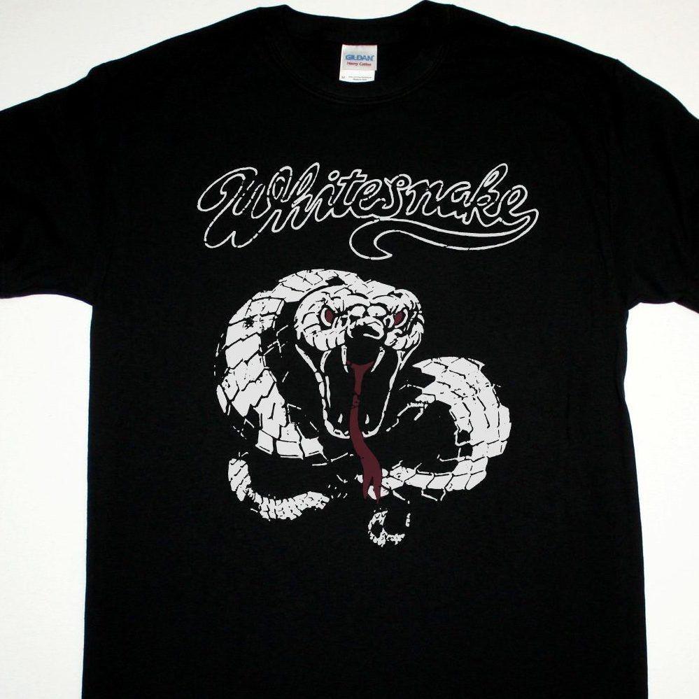 T shirt whitesnake - Newest 2017 Fashion Stranger Things T Shirt Gildan O Neck Cotton Short Sleeve Whitesnake Vintage Noise Shirts For Men
