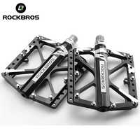 ROCKBROS Cycling Bike Bicycle Pedal Aluminum Alloy Ultralight BMX Bike Pedal Sealed 3 Bearing Pedals Road Mountain Bicycle Parts