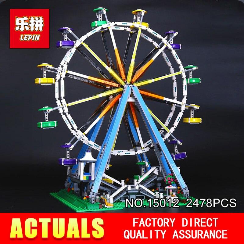 Лепин 15012 город эксперт колесо обозрения модель 2478 шт. строительный блок Кирпичи совместимы с 10247 DIY образования детский подарок