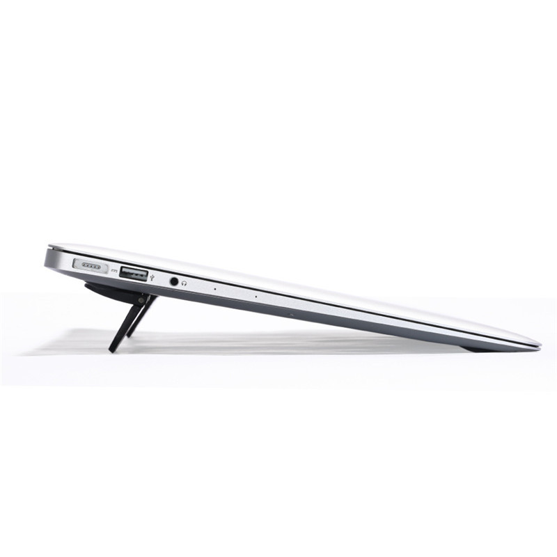 black notebook  laptop stand with cooling bracket and radiator for ipad and macbook