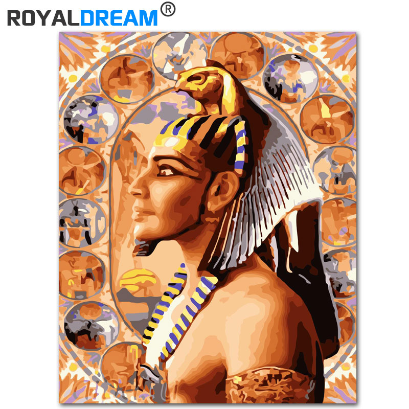 ROYALDREAM Indian Pharaoh DIY Painting By Numbers Acrylic Paint By Numbers HandPainted Oil Painting On Canvas For Home Decor