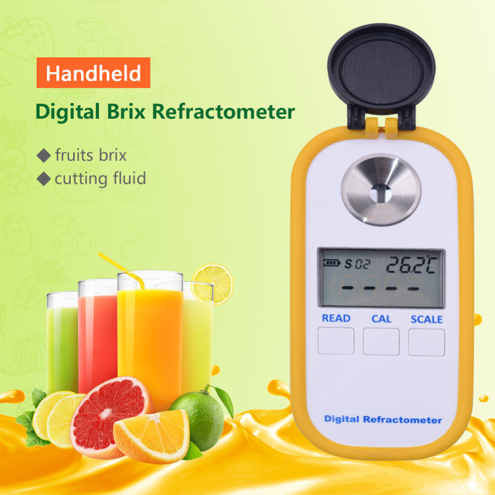 Yieryi Digital Display Glucometer Refractometer BRIX0 90 DR102 Cutting Fluid Cleaning Solution Detergent Concentration Tester