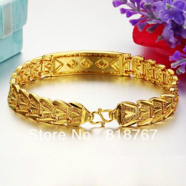 Wholesale 18kt gold bracelet Dubai metal bangles charming bracelet