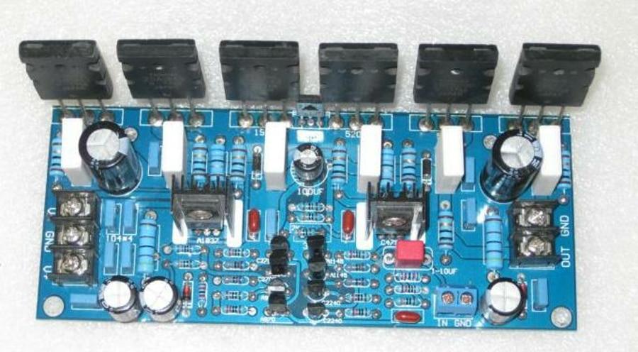 Fannyda upgrade new version A1943 C5200 single channel 300W power amplifier board original used transistor tube