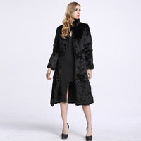 Collar Faux Rabbit Fur Women Coat Faux Fur Winter Fashion Plush Slim Thickened Long Fur Coats