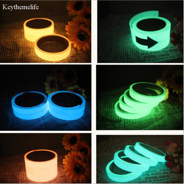 keythemelife pet luminescent film diy glowing tapes waring stripes