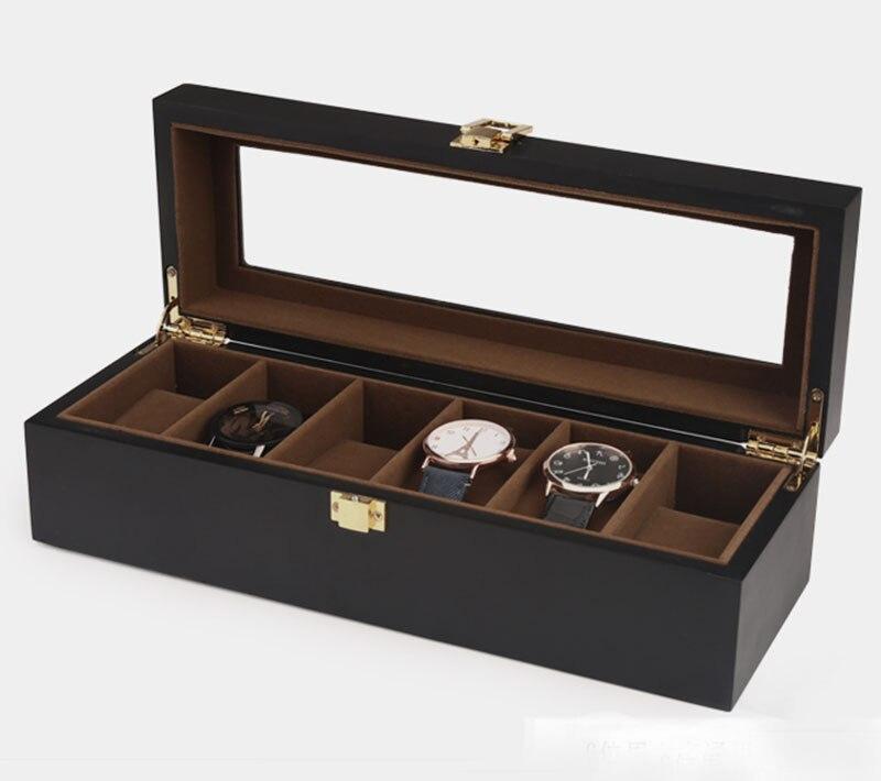 Top qualité 6/10/12 grilles montre stockage montre organisateur vitrine boîte en cuir luxe montre boîte pour titulaire Valentine cadeau - 5
