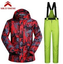 Wild Snow Men Outdoor Ski Winter Waterproof Hiking Outdoor Suit Jacket Men/snowboard Jacket Ski Suit Men Snow Jackets Trousers