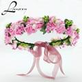 Lanxxy 2016 Nuevas Mujeres Novia de La Boda Cintas Para el Pelo de Flores Accesorios Para el Cabello de La Corona de Flores Girls Headwear de Moda Regalos Diadema