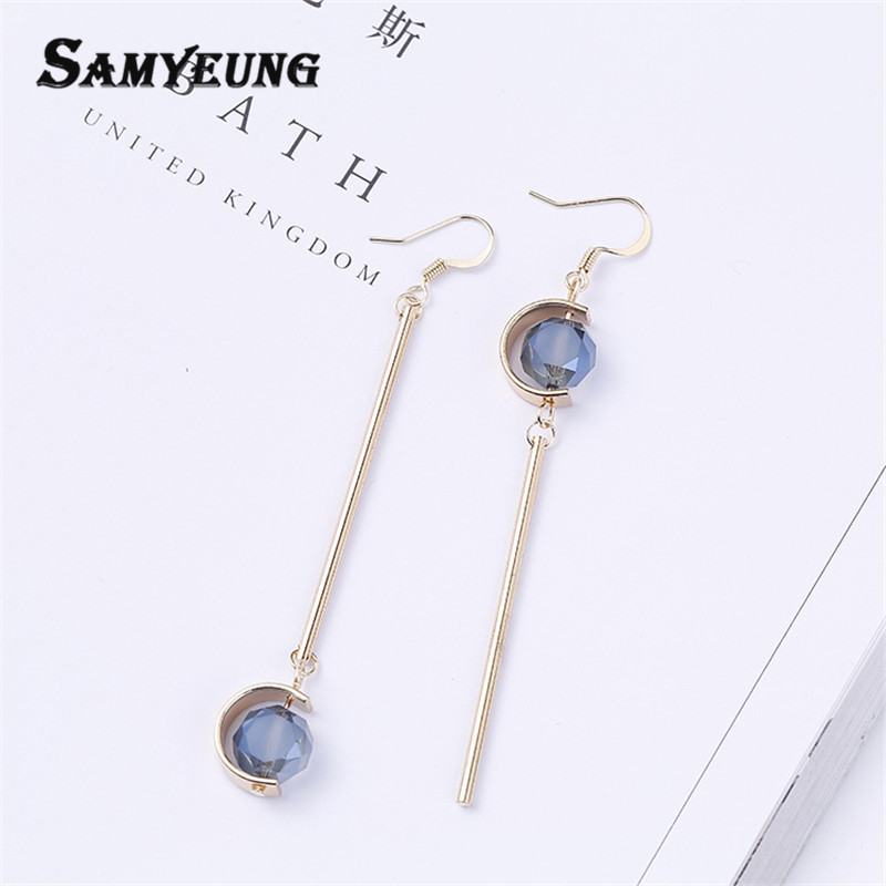 Online Shop Samyeung Pusety Tassel Women Long Dangle Earrings ...
