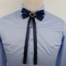 Для мужчин и женщин, для свадебной вечеринки, воротник, рубашка, галстук, Длинная лента, кристалл, бант, галстук-платок,, бизнес, работа, офис, сплав, стразы, галстук-бабочка