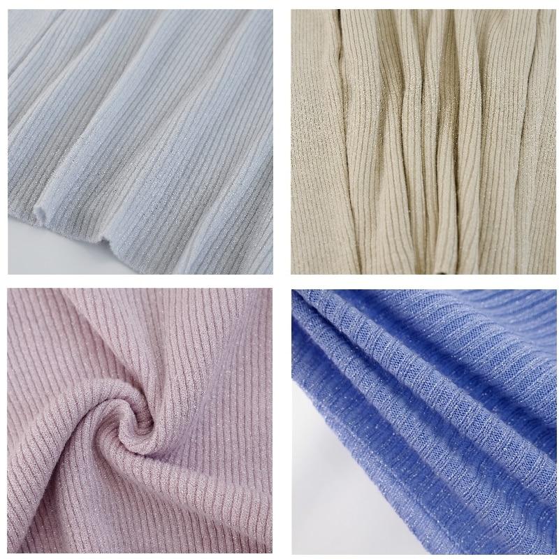 Shiny Lurex Autumn Winter Sweater Women Long Sleeve Pullover Women Basic Sweaters Turtleneck 19 Korean Style Knit Tops Femme 7