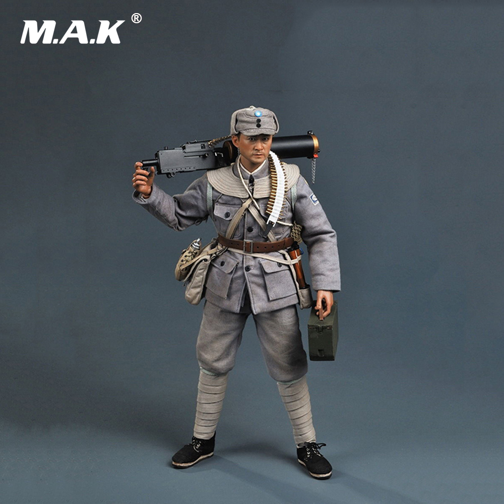 1/6 Scale 12'' Full Set Soldier Action Figure WWII Eighth Route Army Machine Gunner Collectible Figure велосипед wheeler route 1 6 2012