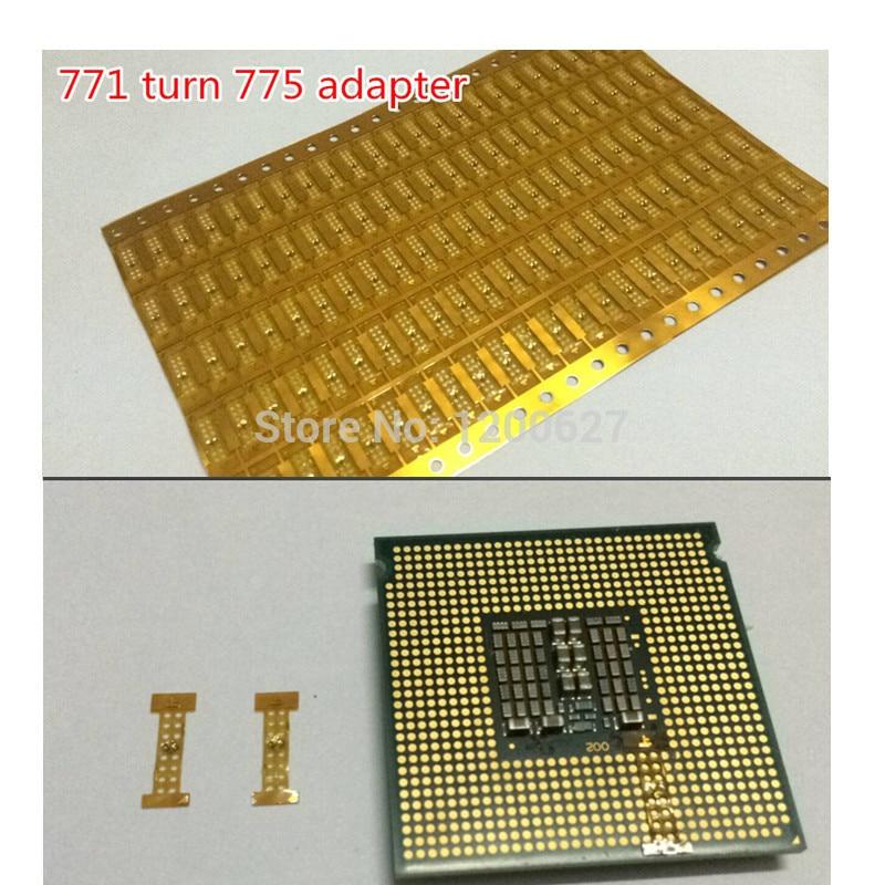 1 pcs LGA 771 Turn 775 adapter ,771 -775 STICKER (lga771 to lga775) adapter for XEONS CPU X5460 x5470 x5472 E5450 5440 adapter
