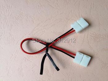 Conector de tira con cable de 15cm de largo, 10mm para 5050 SMD led tira de un solo color; no necesita soldadura