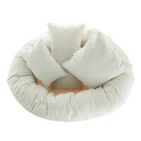 Baby Photo Shoot Wheat Donut Posing Props 4 PCS Set Baby Pillows Ring Newborn Photography Props