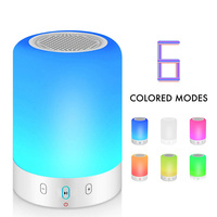 Night Light 6 Color LED Bluetooth Speaker Portable Wireless Stereo Music Smart Touch Control Smart Touch Control Handsfree MP3