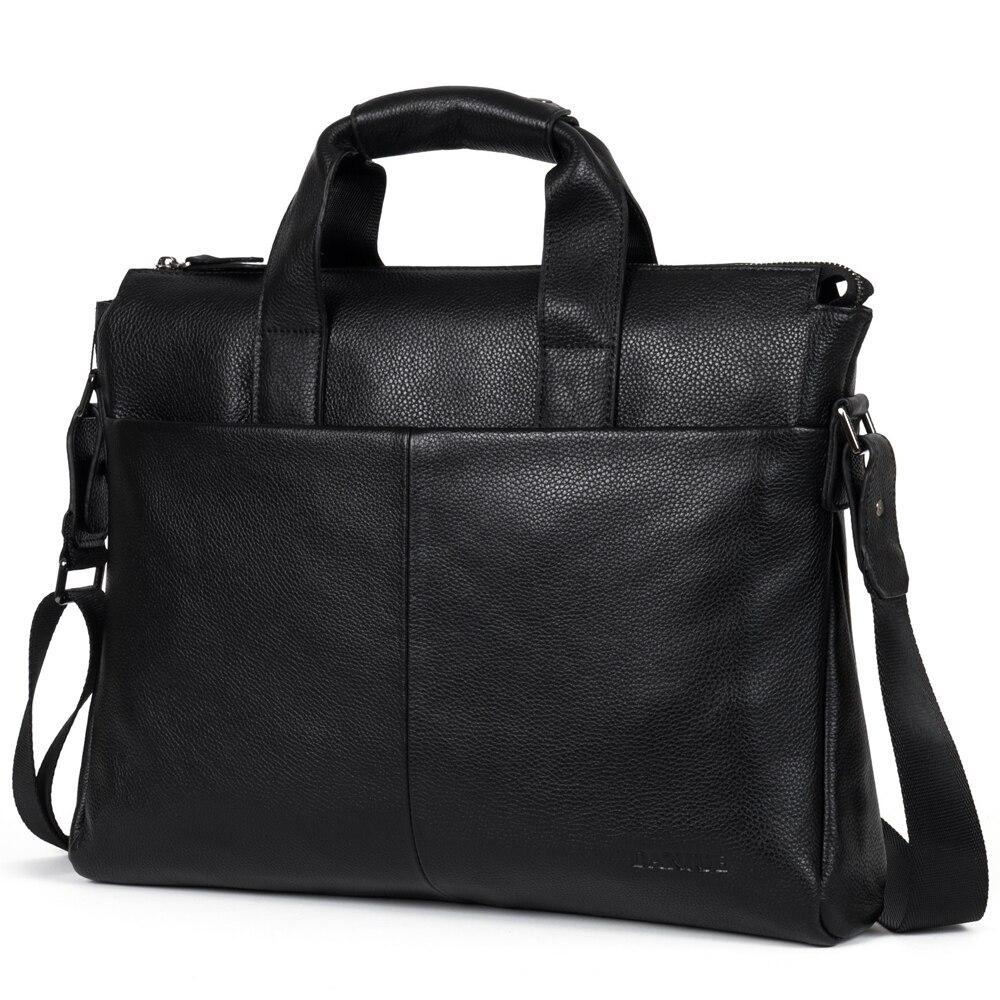 100% Kuh Echtes Leder Business Herren Aktentasche Echt Leder Männlichen Schulter Tasche Luxus Marke Umhängetasche Tote Computer Tasche