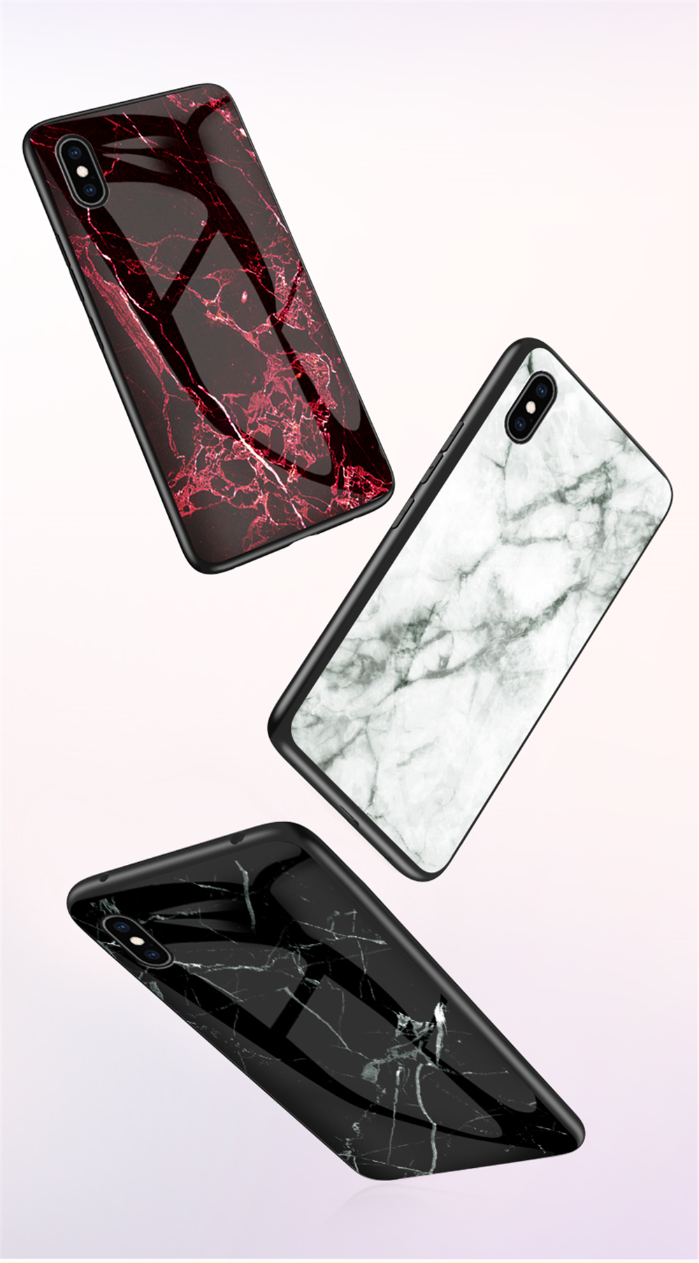 Electronics - Luxury Marble Phone Case for iPhone X Xs Max Glass PC pigeo