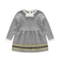 جديد أزياء الربيع الخريف الشتاء الفتيات سترة الأميرة اللباس الرضع حك اللباس الطفل الصغير فتاة جيرسي فستان المريلة