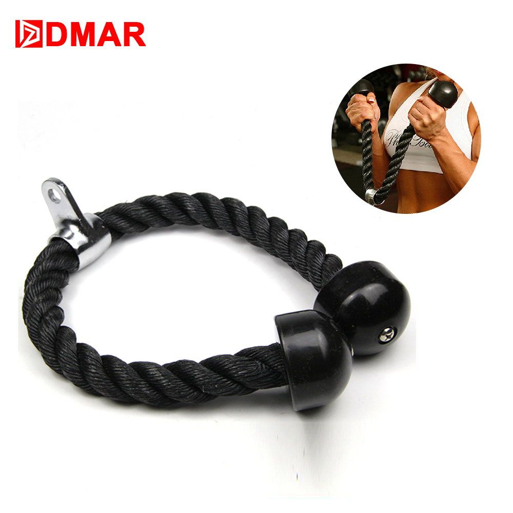 DMAR Tricep Rope Push Pull Down Cord For Bodybuilding Exercise Gym Workout Fitness Exercise Body Equipment for Home or Gym image