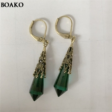 Classical Vintage Earrings For Women Irregular Crystal Pendientes Duzzling Retro Brincos Gifts A35