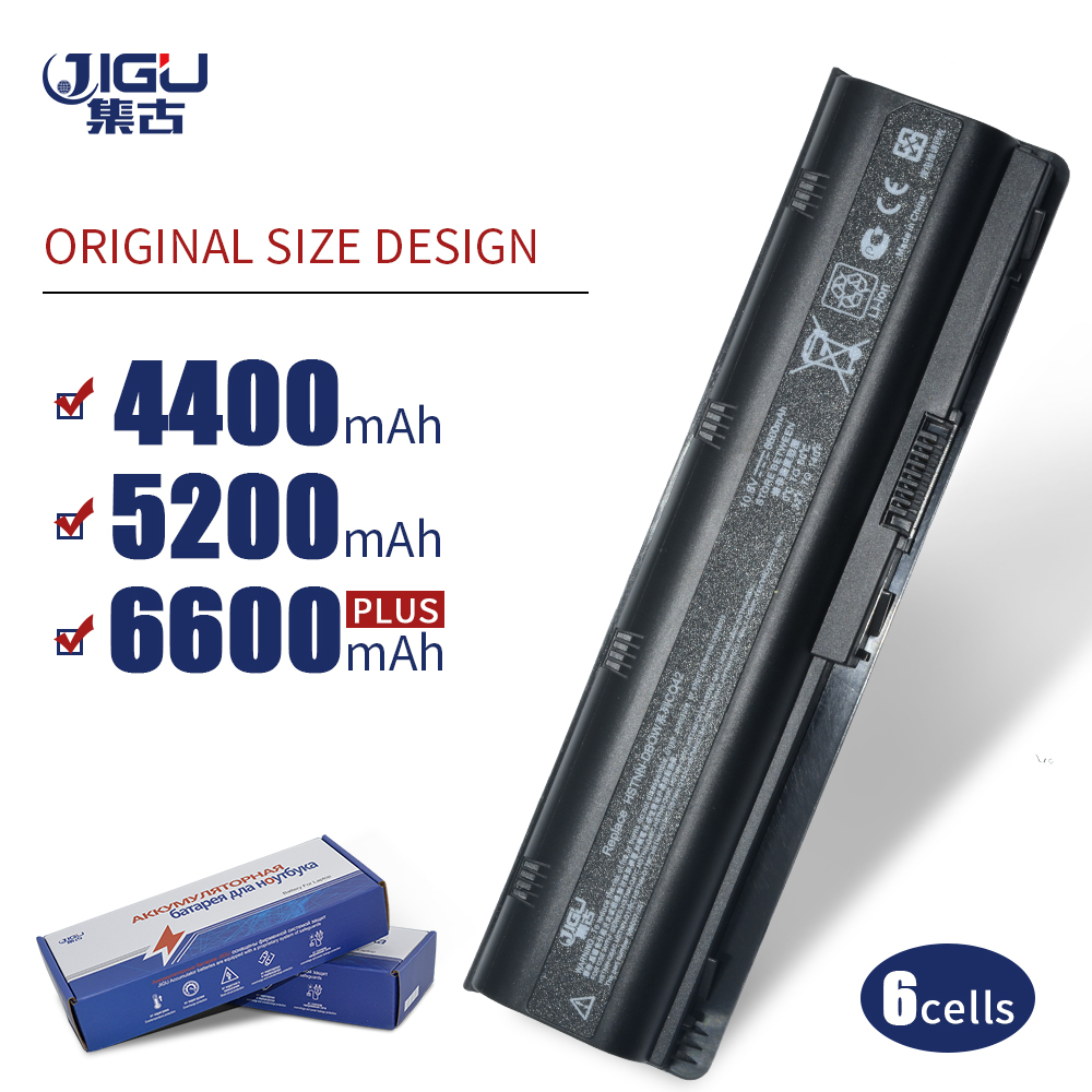 JIGU 6 celdas batería para HP Pavilion DM4 DM4T DV3 DV7 G4 G6 G7 G62 G62T G72 MU06 HSTNN-UBOW Presario CQ42 CQ56 CQ62