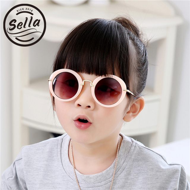 a8b82c10c0d Sella Fashion Boys Girls Colorful Sunglasses Kids Candy Color Trending  Round Sun Glasses Summer Baby Delicate