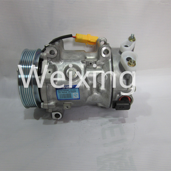 Auto Air conditioning compressor clutch 6PK SANDEN SD6C12 for PEUGEOT 307 1351 9651910980 9671216280 9659875780
