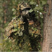 Ghillie Suits 3d Camouflage Leafy Hunting Woodland Leaf outdoor army maple Camo Bionic sniper birdwatch Forest Jungle breathable jungle bionic camo clothes wild hunting suits for hunter oem factory