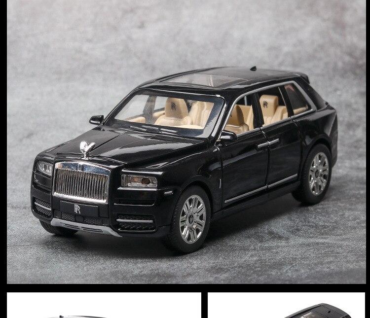 Rolls Royces Cullinan SUV Model Car with Metal Wheels, Sound & Lights 17
