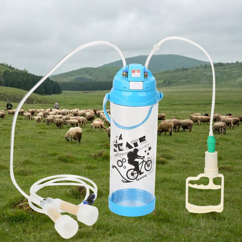 3L Manual Double Head Impulse Milk Milking Machine Portable Sheep Goat Milker 0 8 Gal Vacuum