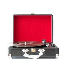 USB DC 5 V Grammophone Retro Plattenspieler 33 RPM Antikes Grammophon Plattenspieler Disc Vinyl Audio 3 Speed Aux  in Line out