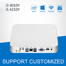 Mini PC Barebone Win 10 HD Graphics Mini Desktop Computador Intel Core i5 4200Y 4210Y Computer With Fan i3 4010Y 4020Y HTPC
